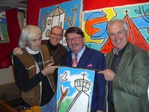 Gaudnek, Bürgermeister Wagner, Prof. Liebhart, Christmann
