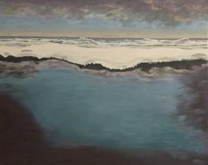 Hoffnung (Eismeer) 80x100 Acryl auf LW 2013-1