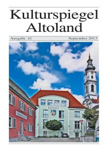 Kulturspiegel Altomünster